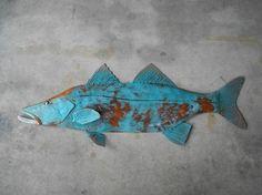 Snook Metal Fish Wall sculpture Tropical by SallenbachFishArt, $100.00