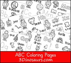 New #ABC Coloring Pages for #Kids