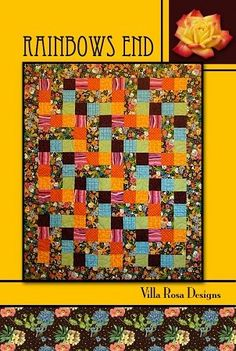 Rainbows End - A Villa Rosa Pattern (42 x 53) or (53 x 64 with Optional Border)