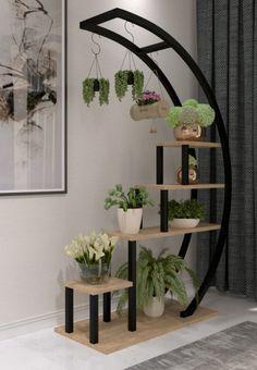 Indoor Flower Pots, Hanging Flower Pots, Wood Plant Stand, Tiered Plant Stand Indoor, Wooden Floating Shelves, Wall Shelf Decor, House Plants Decor, Wooden Flowers, Flower Stands