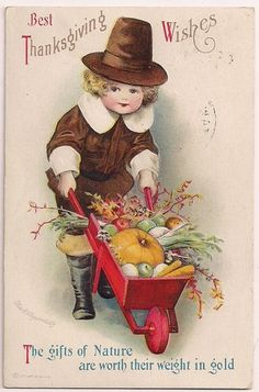 Sweet vintage Thanksgiving card.