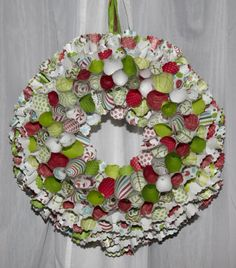 Christmas. Paper Cone Wreath
