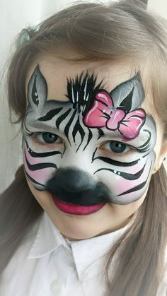 Zebra-Animal by Lu's face painting Face Painting Images, Animal Face Paintings, Girl Face Painting, Face Painting Designs, Animal Faces, Painting For Kids, Paint Designs, Little Girls Makeup, Kids Makeup