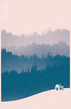 isolation by Skinny Ships : Richard Perez, via Flickr | pink and blue snow storm on a cabin in the woods