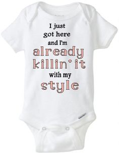 Is your little one's outfit always on point? Let her show off in this funny baby onesie!