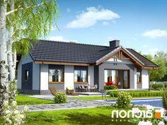 Dom w nerinach Village House Design, House Front Design, Small House Design, Roof Design, Modern Bungalow House Design, Modern Brick House, 3d House Plans, Family House Plans, Beautiful House Plans