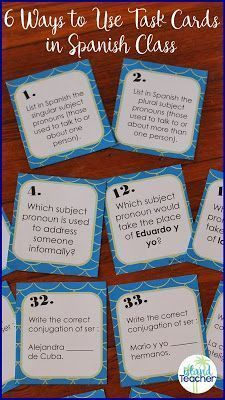 6 Ways to Use Task Cards in Spanish Class