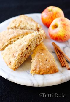 Apple-Cinnamon Chip Scones | Tutti Dolci plus a @King Arthur Flour #giveaway