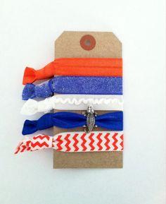 Elastic Hair Ties Emi Jay Inspired Orange by TheBrownEyedOwlShop, $10.50