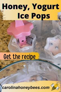Ice Pop Recipes, Honey Recipes, Cooking With Honey, Yummy Healthy Snacks, Ice Pops, Vegetarian Paleo, Eating Raw, Corn Syrup, Recipe Using