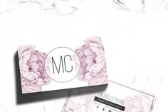 Floral business card template - Business Cards