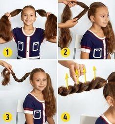 Идеи причесок для девочек   OK.RU Easy Little Girl Hairstyles, Hair Inspiration, Little Girls, Long Hair Styles, Kids, Gift Baskets, Up Dos, Hair, Communion Hairstyles