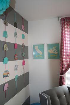Elephants in Emma's nursery! #DYI #babynursery