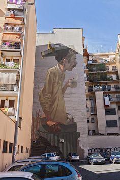 New ETAM CRU murales @Torpignattara Rome, 2014. 32m Artwork | Artribune