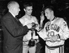 Photo              Oregon's Bobby Anet, near left, with the N.C.A.A. trophy, minus a miniature player that had broken off its top, after the Ducks won the 1939 title.                                      Credit             University of Oregon Archives, via Associated Press                  ...  http://usa.swengen.com/oregons-3-point-past-catches-up-to-the-present/