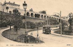 128. .PAU. - La Montée de la Gare. - LL. cartes postales anciennes de l'Avenue Napoléon Bonaparte à Pau dans les Pyrénées-Atlantiques (autrefois Basses-Pyrénées).