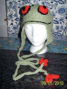 Crochet - frog hat