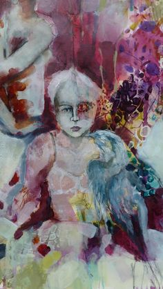 Fractured Angelics mixed media: Evolution of a painting...see the painting from start to finish, by Kate Thompson.