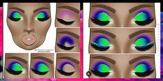 Pink Eye Makeup, Black Girl Makeup, Colorful Eye Makeup, Girls Makeup, Eyebrow Makeup, Skin Makeup, Simple Eyeshadow, Smokey Eyeshadow, Eyeshadow Makeup