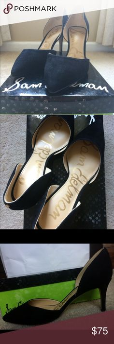 """Sam Edelman Telsa D'Orsay black suede pumps New, never worn Sam Edelman black suede pumps. 3"""" heel, padded insole, leather/suede upper, TTS. Still in original box and packaging Sam Edelman Shoes Heels"""