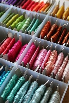 embroidery thread @Josi Martinez Martinez Oria Wheeler Friendship bracelets ;)