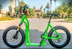Mike Silvestri, CEO of Moox, Inc. is raising funds for Moox Bike: A Bicycle-Scooter Hybrid on Kickstarter! Support the Moox Bike, the first-of-its-kind bicycle-scooter hybrid. Ride and glide in a totally new and exhilarating way! Scooter Bike, Kick Scooter, Cool Bicycles, Cool Bikes, Bmx, Scooters For Sale, Bike Trailer, New Motorcycles, Fat Bike