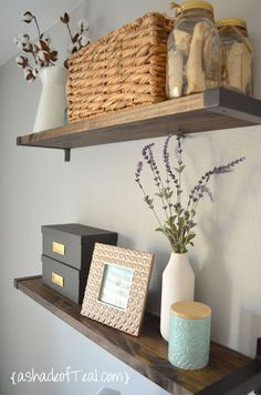 Hello there! I'm so happy its Friday; it's been one of those weeks that drags on. Today I'm sharing how I made my DIY rustic bookshelves with IKEA brackets. I know so many other bloggers have made the