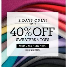 Lands' End : 40% off Sweaters and Tops
