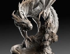 -KAEGHAR the Dragon-, Caleb Nefzen on ArtStation at https://www.artstation.com/artwork/QELYr