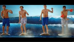 ONE DIRECTION- KISS YOU. This video is great, but please put some t-shirts on... :')