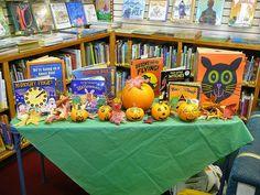Halloween book corner