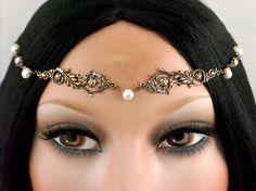 Catherine Headpiece  Bridal Freshwater Pearl by CastalynStudios, $34.00