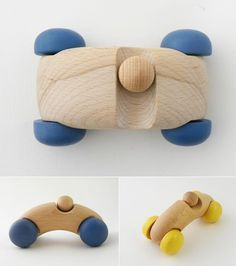 Handmade Wooden Toy Cars from Iichi $37 and up