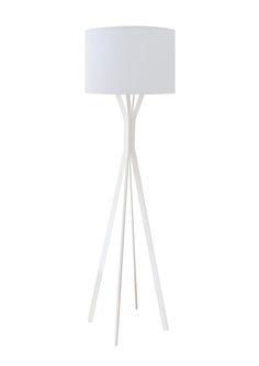 Minimal lámpara de diseño, de pie de hierro para living, escritorio o dormitorio