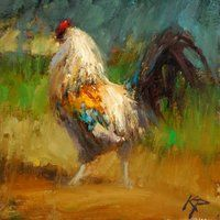 Kyle Paliotto rooster oil painting