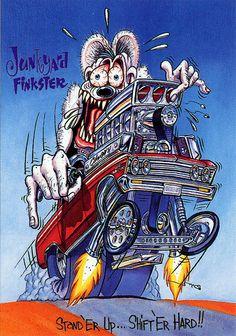 Rat Fink Ed Big Daddy Roth - Junkyard Finkster