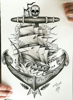 . Body Art Tattoos, Tattoo Drawings, I Tattoo, Sleeve Tattoos, Cool Tattoos, Anchor Tattoo Design, Anchor Tattoos, Maritime Tattoo, Navy Tattoos