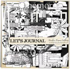 { Let's Journal :: Dawn Inskip @ Scrapbookgraphics }