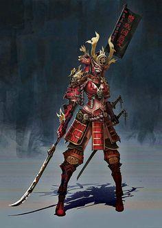 "spassundspiele: ""Samurai – fantasy character concept by Anima 08 "" Fantasy Character Design, Character Concept, Character Inspiration, Character Art, Concept Art, Ronin Samurai, Samurai Warrior, Female Samurai Art, Fantasy Characters"