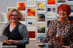 """ART SWAP mit Kalenderblättern der Malerin Helene B. Grossmann zur Vernissage der Ausstellung """"only light"""" in #galerienuett #dresden #kunstindresden"""