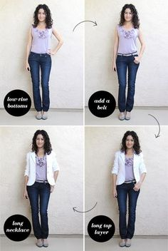 How to tuck in if you are short-waisted, from alterationsneeded.com