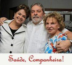 Dilma, Lula e Marisa Letícia