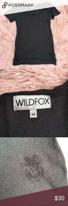 Wildfox dark grey scoop neck t shirt size M Great condition size M Wildfox Tops