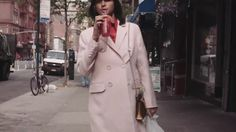 New York chef and caterer Laila Gohar weaves her way through the busy NYC streets, from her home in Soho, to neighbouring Chinatown and then onto the Upper E. Madison Avenue, Nyc Streets, Duster Coat, Walking, Jackets, Fashion, Clothing, Down Jackets, Moda