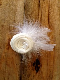 Fabric Flower Hair Clip by PrettyPrettyPieces on Etsy, $8.00