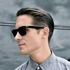 G-Eazy Haircut Name - Low Fade with Textured Slick Back