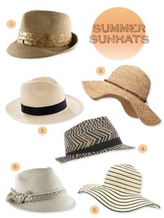 must have summer hats #trends #summer #casual