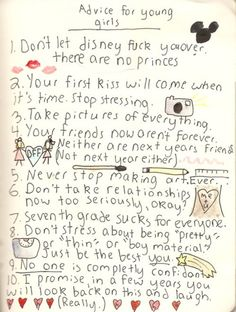 Advice for young girls... (should also be applied to some not so young girls.)