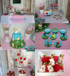 cumpleanos Origami, Pig Party, 2nd Birthday Parties, Ale, Baby Shower, Ideas Para, Party Ideas, Party, 3d Cards
