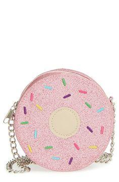 Capelli of New York 'Glitter Donut' Crossbody Bag (Big Girls) | Nordstrom